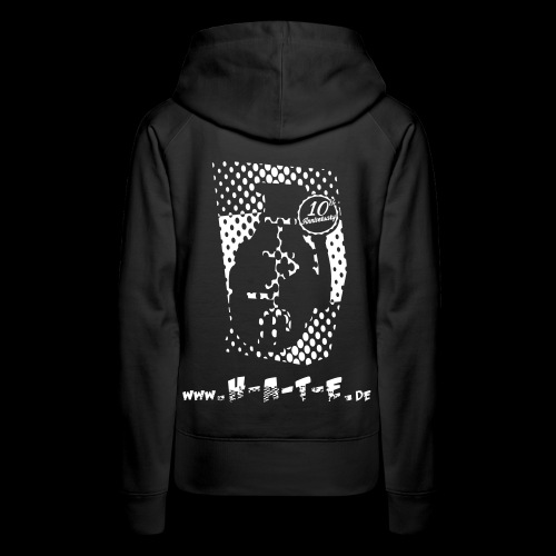 The BACK of 10th HATE Shirt - Frauen Premium Hoodie