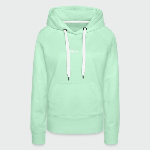 flolo durchgestrichen in weiß - Frauen Premium Hoodie