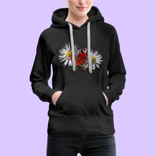 zwei Gänseblümchen mit einem Schmetterling - Frauen Premium Hoodie