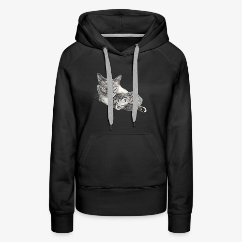Snow and her baby - Women's Premium Hoodie