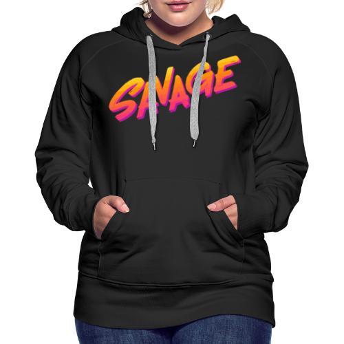 SAVAGE - Felpa con cappuccio premium da donna