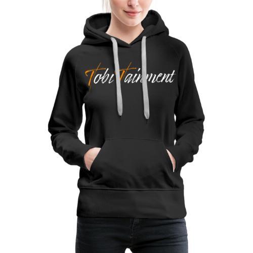 TobiTainment Logo White - Frauen Premium Hoodie