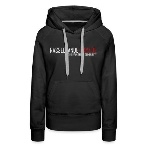 Rasselbande-logo_weiß - Frauen Premium Hoodie