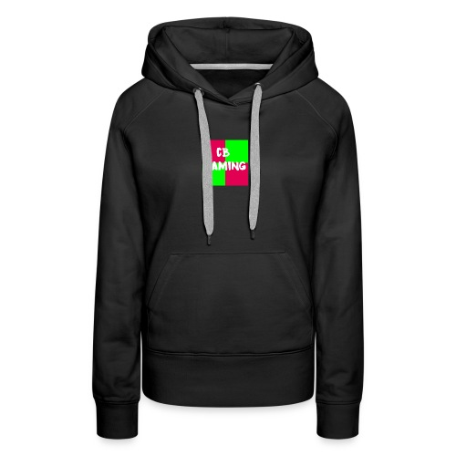 CB Gaming Blue with Red text - Women's Premium Hoodie