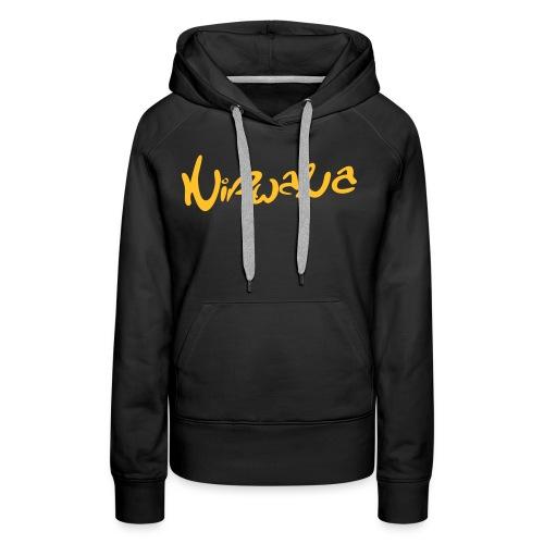 nirwanalogo4 - Vrouwen Premium hoodie