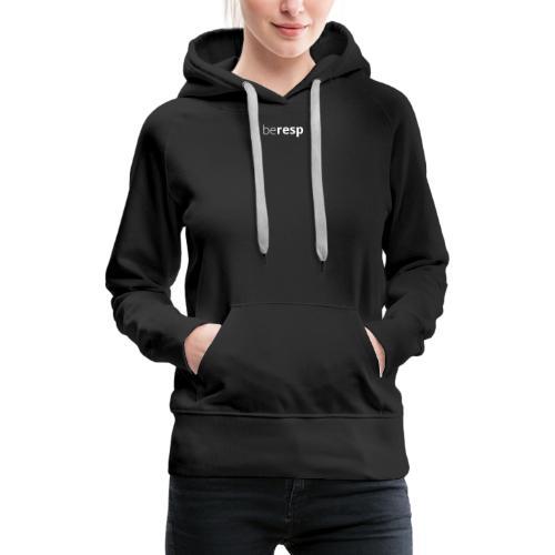 BeResp Classic Line 2 White - Sweat-shirt à capuche Premium pour femmes