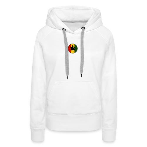 weed logo - Dame Premium hættetrøje