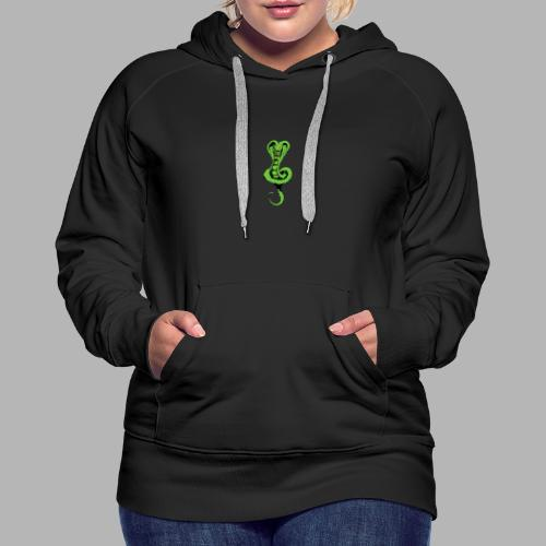 Schlange klein vorne - Schrift hinten - Frauen Premium Hoodie