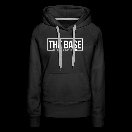 The Base Fitness and More Logo Zwart - Vrouwen Premium hoodie