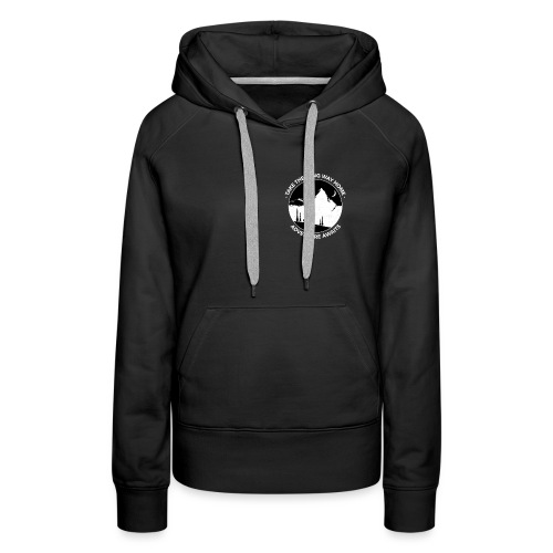 Mountain Hiking Collection - Black - Women's Premium Hoodie
