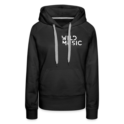 Wild Music Logo - Sudadera con capucha premium para mujer