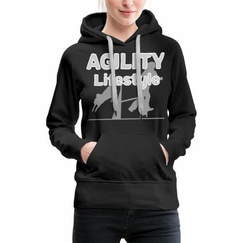 Agility Dogagility Hundesport Hundetraining - Frauen Premium Hoodie