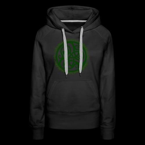 Green Celtic Triknot - Women's Premium Hoodie