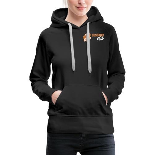 ausdauerclub weiss - Frauen Premium Hoodie