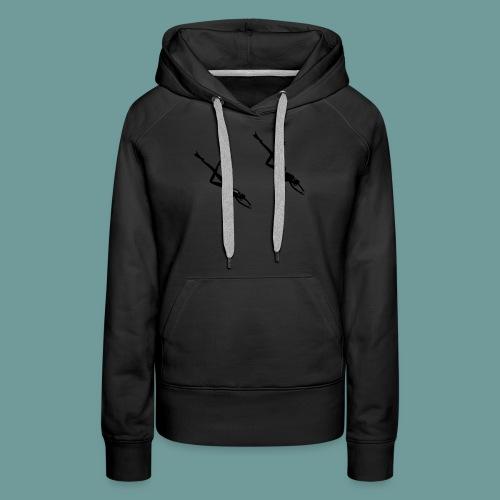 scubadiving_girl - Sweat-shirt à capuche Premium pour femmes
