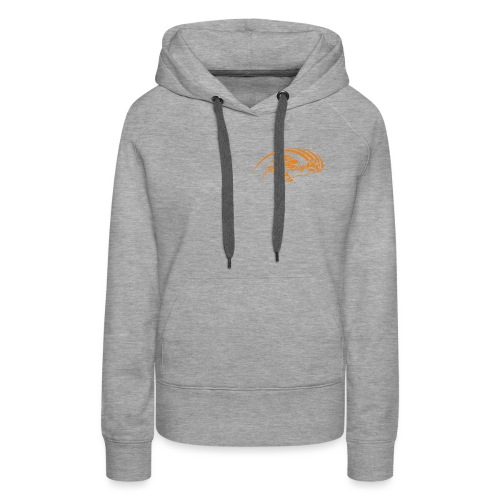 logo orange nu - Sweat-shirt à capuche Premium pour femmes