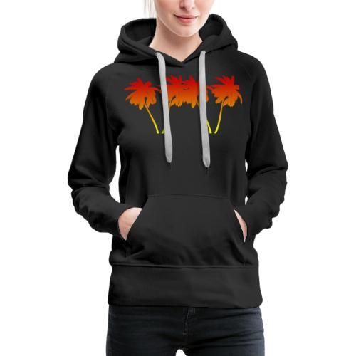 Palmen Sonnenuntergang Strand Sommer - Frauen Premium Hoodie