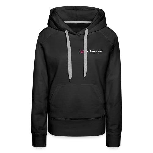 tramharmonie logo wit letters - Vrouwen Premium hoodie