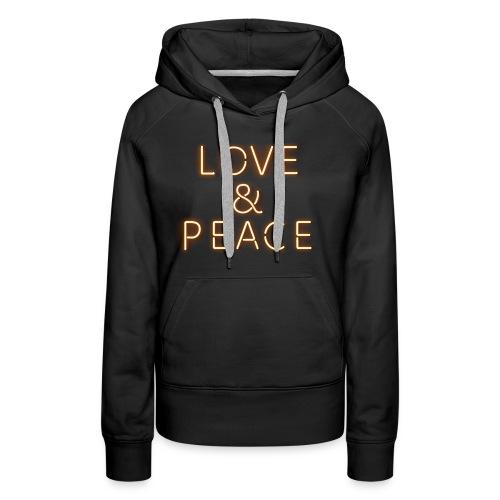 Love And Peace Neon - Frauen Premium Hoodie