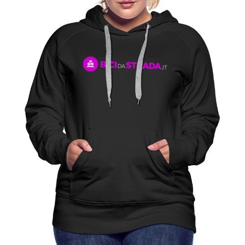 Logo_BdS bianco png - Felpa con cappuccio premium da donna