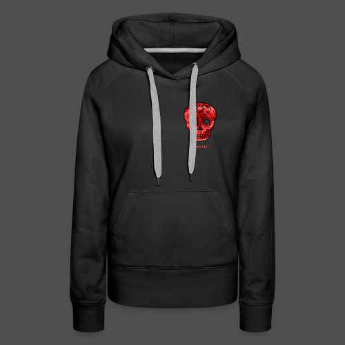 Skull Roses - Bluza damska Premium z kapturem