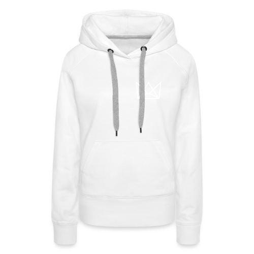 Laune-logo-kruunu-white - Naisten premium-huppari