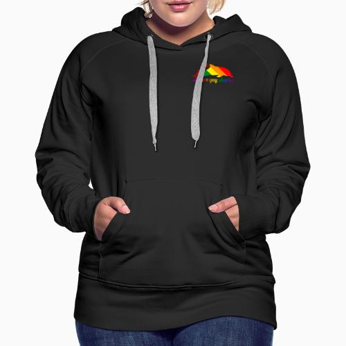 Dolphins are gay sharks! - Women's Premium Hoodie