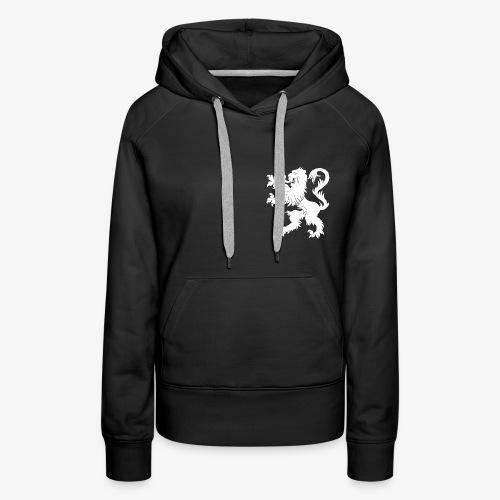 Blason Lions de Guerre Noir - Sweat-shirt à capuche Premium pour femmes