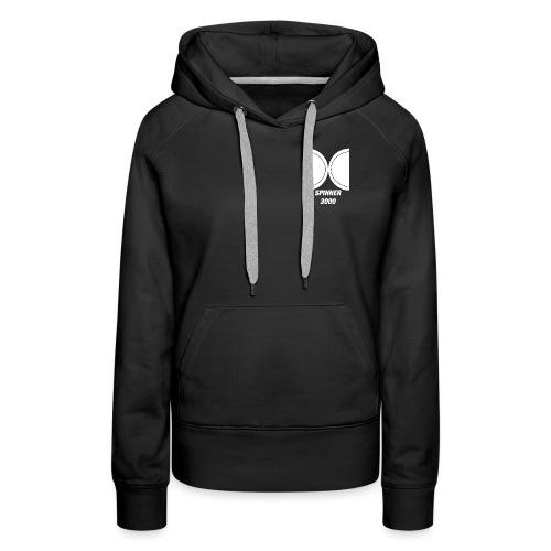 Light logo - Sweat-shirt à capuche Premium pour femmes