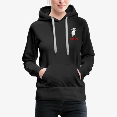 Happy - Sheep - Sweat-shirt à capuche Premium pour femmes