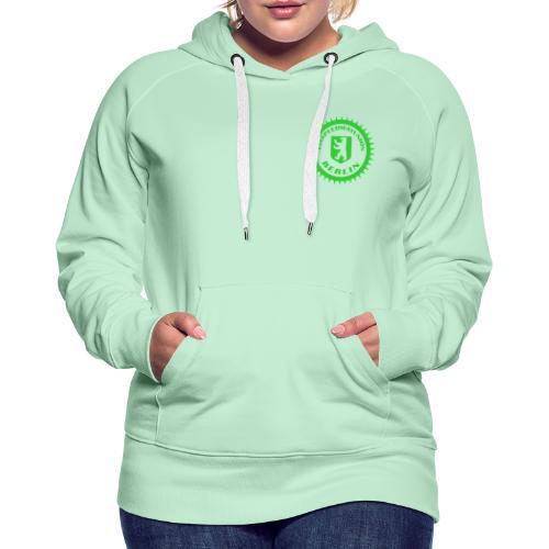Logo klein ESU transp Green - Frauen Premium Hoodie