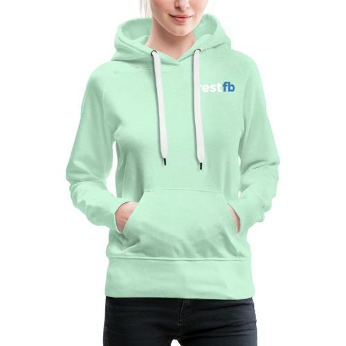 RestFB logo white - Women's Premium Hoodie