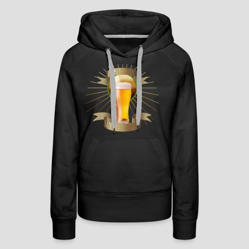 Beer is my religion - Sweat-shirt à capuche Premium pour femmes