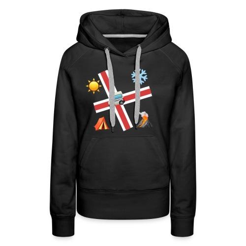 Islandia - Sudadera con capucha premium para mujer