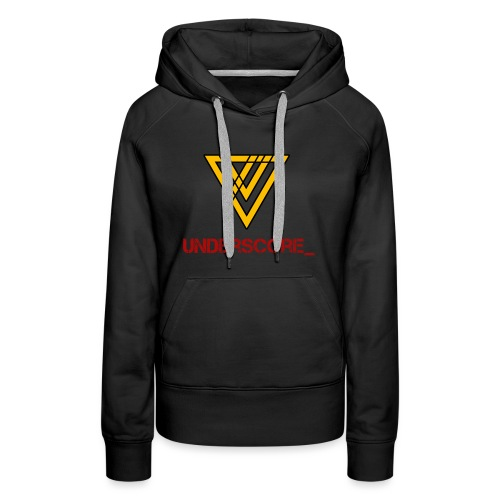 Underscore Yellow Red - Women's Premium Hoodie