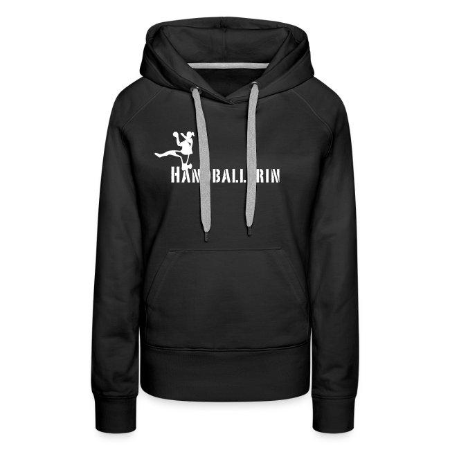 Handballerin Schriftzug