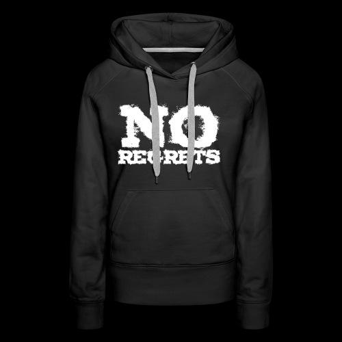 NO REGRETS Transparent - Frauen Premium Hoodie