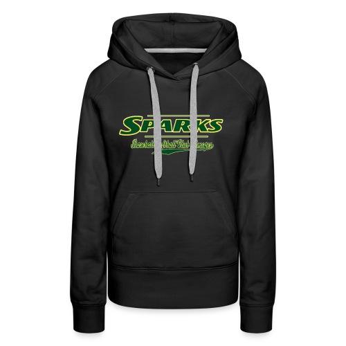 logo sparks fond vert 2 gif - Sweat-shirt à capuche Premium pour femmes