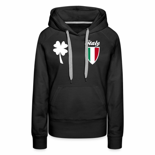 Italia Emblema sport 3C - Felpa con cappuccio premium da donna