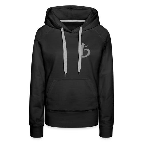 logo noir - Sweat-shirt à capuche Premium pour femmes