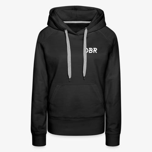 DBR Schrift weiss png - Frauen Premium Hoodie