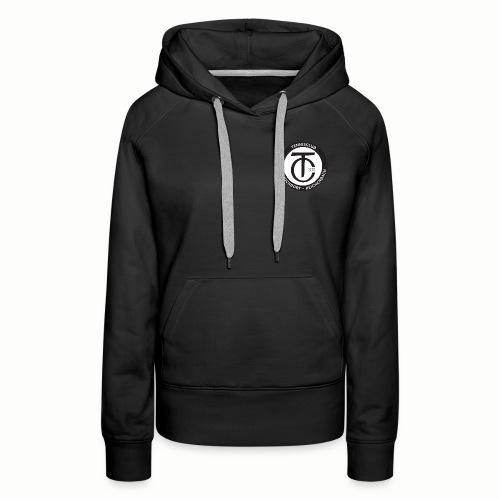 TCHR Logo Schwarz-Weiß - Frauen Premium Hoodie