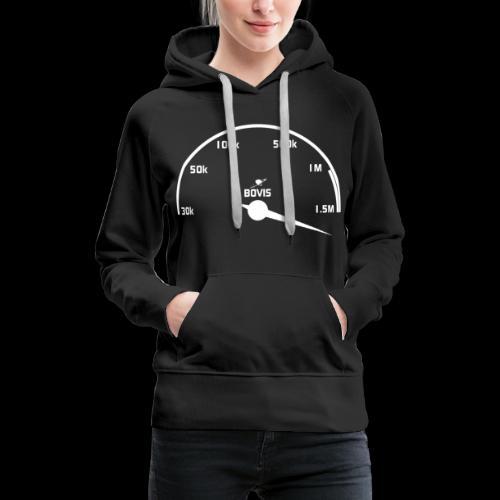 Compteur de Bovis - Sweat-shirt à capuche Premium pour femmes