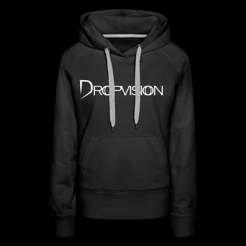 Dropvision Logo Vit - Premiumluvtröja dam