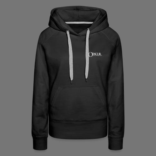 Petit logo Obscur - Sweat-shirt à capuche Premium pour femmes