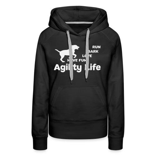 Agility Life T-Shirt Hundesport - Frauen Premium Hoodie