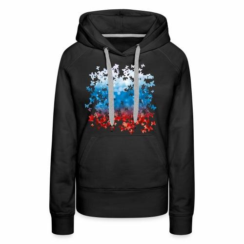 06 Russland Flagge Fahne Russia Schmetterlinge - Frauen Premium Hoodie