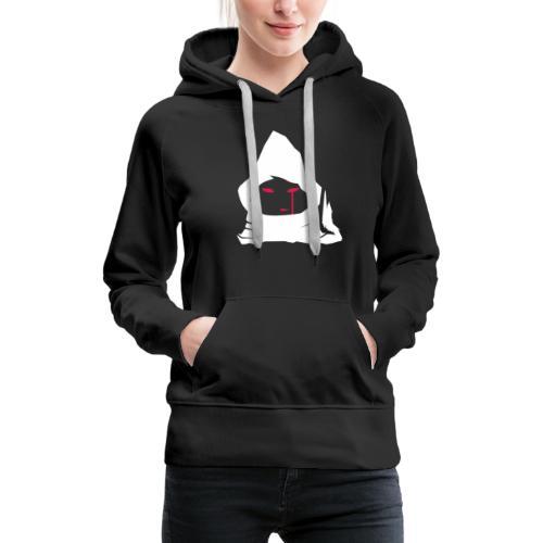 logo-jester-wolf-blanc - Sweat-shirt à capuche Premium pour femmes