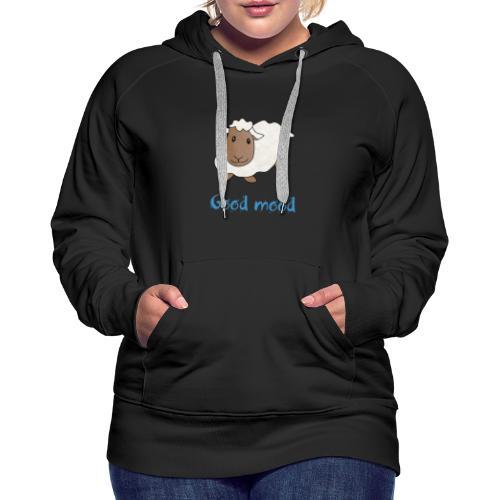 Nadège le petit mouton blanc - Sweat-shirt à capuche Premium pour femmes