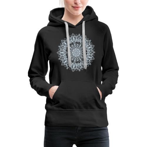 Mandala Zeichnung Kreis Spirale Blumen Line Art - Frauen Premium Hoodie